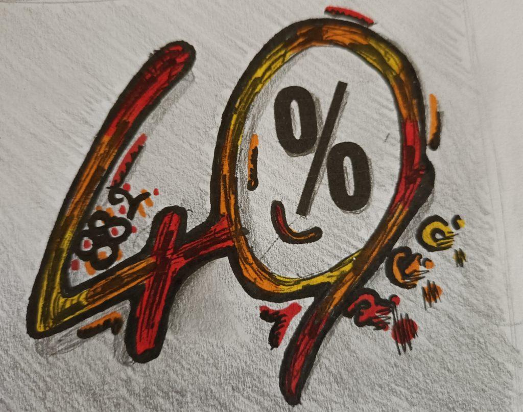 Logo 40 pour cent de quota